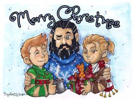 2014 Grey Warden Christmas by KeyshaKitty