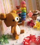 Rainbow Ice Cream Delight ~ Rilakkuma by Vissyscrafts