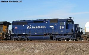Pan Am Railways MEC SD40M #619 locomotive by EternalFlame1891