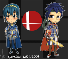 Marth and Ike by oborozuki