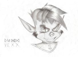 Vexx - Grey portrait by Butterfly-of-Pearls