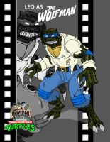 TMNT LEO AS The Wolfman film by ShinMusashi44