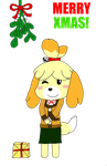 Merry Christmas from Isabelle by MechaKnucklesA3