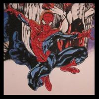 SPIDER MAN CLOSE UP by KYLE-CHANEY