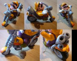 Wario Bike Figurine by Jelle-C