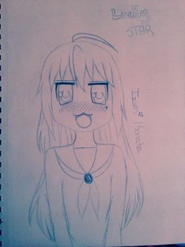 Izumi Konata from Lucky Star Pencil Drawing by kimberjoannlewis