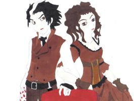 sweeney todd and mrs. lovett by csoccerchic101
