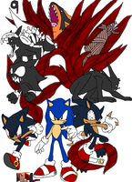 Sonic 9-Tailed Forms by Tails19950