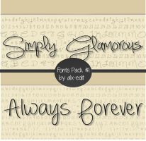 Fonts Pack #1 | Photoshop| by alx-edit