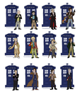 Doctor Stickers by blackrathmar