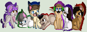 Fluffy Youtubers by Miiv12