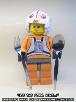 Why papercraft LEGO SW Luke should use the Fork by ninjatoespapercraft