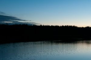 a star in the blue hour by maslenkina