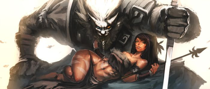 Rengar and Nidalee by Raaamen
