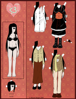 'heart': Lily Paper Doll by Mole-Chan
