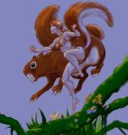 Cave-girl Squirrel Girl and Sabre-toothed squirrel by Nick-Perks