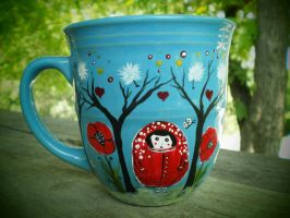 Russian Doll and Whimsical Forest by InkyDreamz