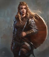 Female Viking warrior 1 by Raph04art