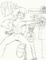 Riley Training with Master Ling by JohnZScott