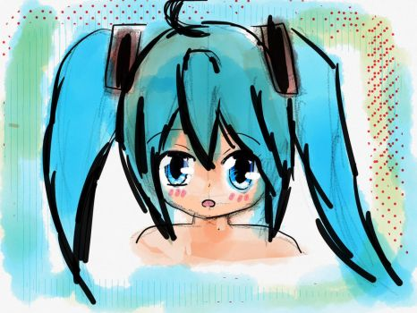 Quick miku sketch by thenerdypenguins