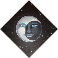 Moon Painting by SamusFairchild