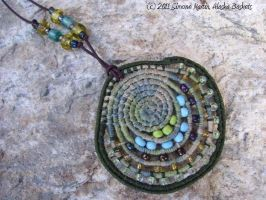 Alaska Green Minerals Necklace by alaskabaskets