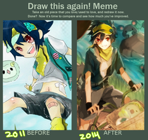 Before and After meme by minivai