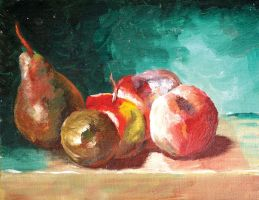 A painting of fruits by lady-storykeeper