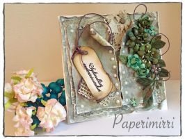 Hand made card / Paper flowers are also hand made by absolugirl