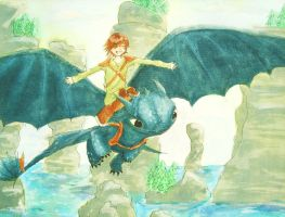 Hiccup and Toothless-Httyd by Lottie3