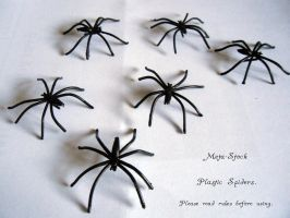 Plastic Spiders for Halloween by Meta-Stock