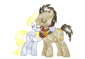 Galaxy Derpy and Doctor Whooves by DigiRadiance