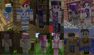 Pony minecraft skins -UPDATED- by RPpirate