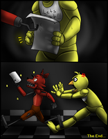 A Gift for Chica - FNaF Comic - Part 5 by AccursedAsche