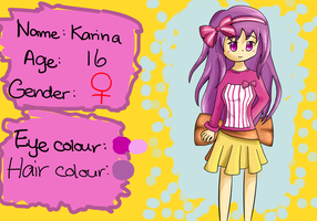 Karina Reference Sheet by KurunaGirl