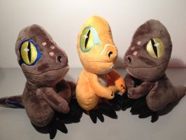 Raptor Plushies by Phylpo