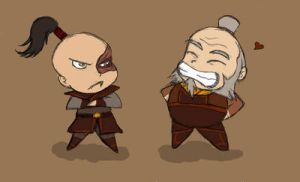 Zuko and Iroh Chibis by Foxbride