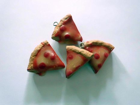 Pepperoni Pizza Charms by UneGlaceRose