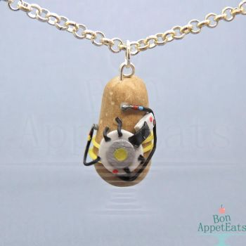GLaDOS Potato Necklace by Bon-AppetEats