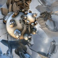R-54360 Wasp Mandelbrot Radial Engine by MANDELWERK