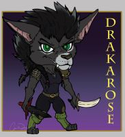Drakarose the Worgen Rogue by StarNob