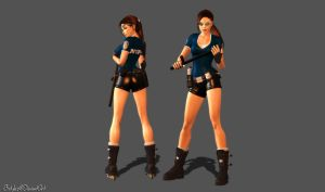 NYPD Lara on Skates (XPS Updated) by bstylez