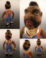 Mini T - Needle Felted Mr. T by FeltAlive