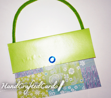 Green Purse Birthday Card by HandCraftedCards