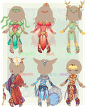 :Comm: outfits for Wintryabyss, set02 by BlackMayo