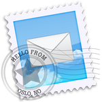 Mac OS X iCloud Mail icon by sleazy-kay