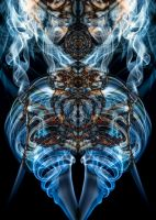 Smoke-cold Blue Psychedelic  by vQb