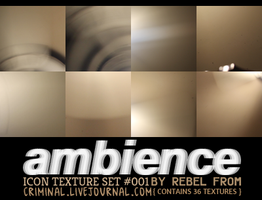 Ambience: 36 Icon Textures by Rebel by rebelatlj