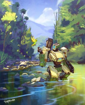 Bastion Fanart by yinfaowei
