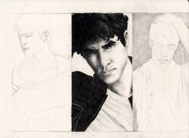 Darren Everett Criss WIP by tiptoelemonade